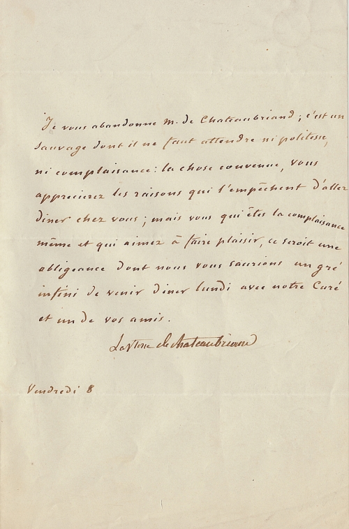 chateaubriand-lettre