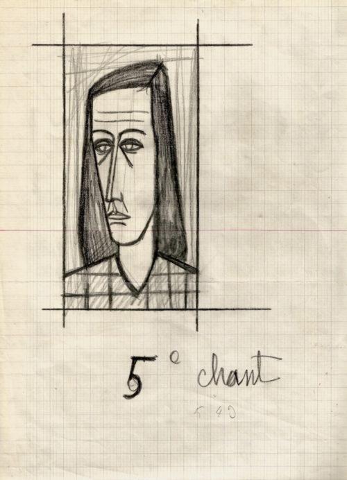 bernard-buffet-dessin-autographe